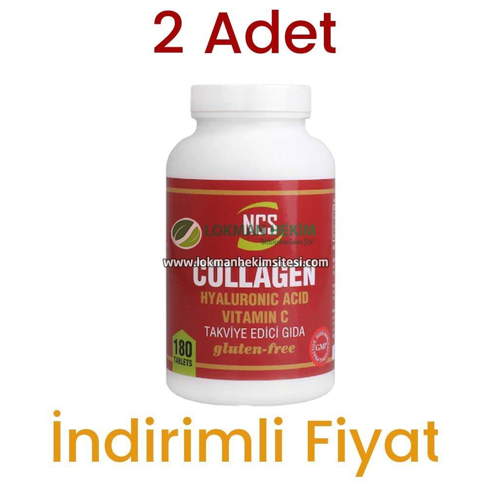 2 Adet NCS Collagen Hyaluronic Acid Vitamin C Takviye Edici Gıda