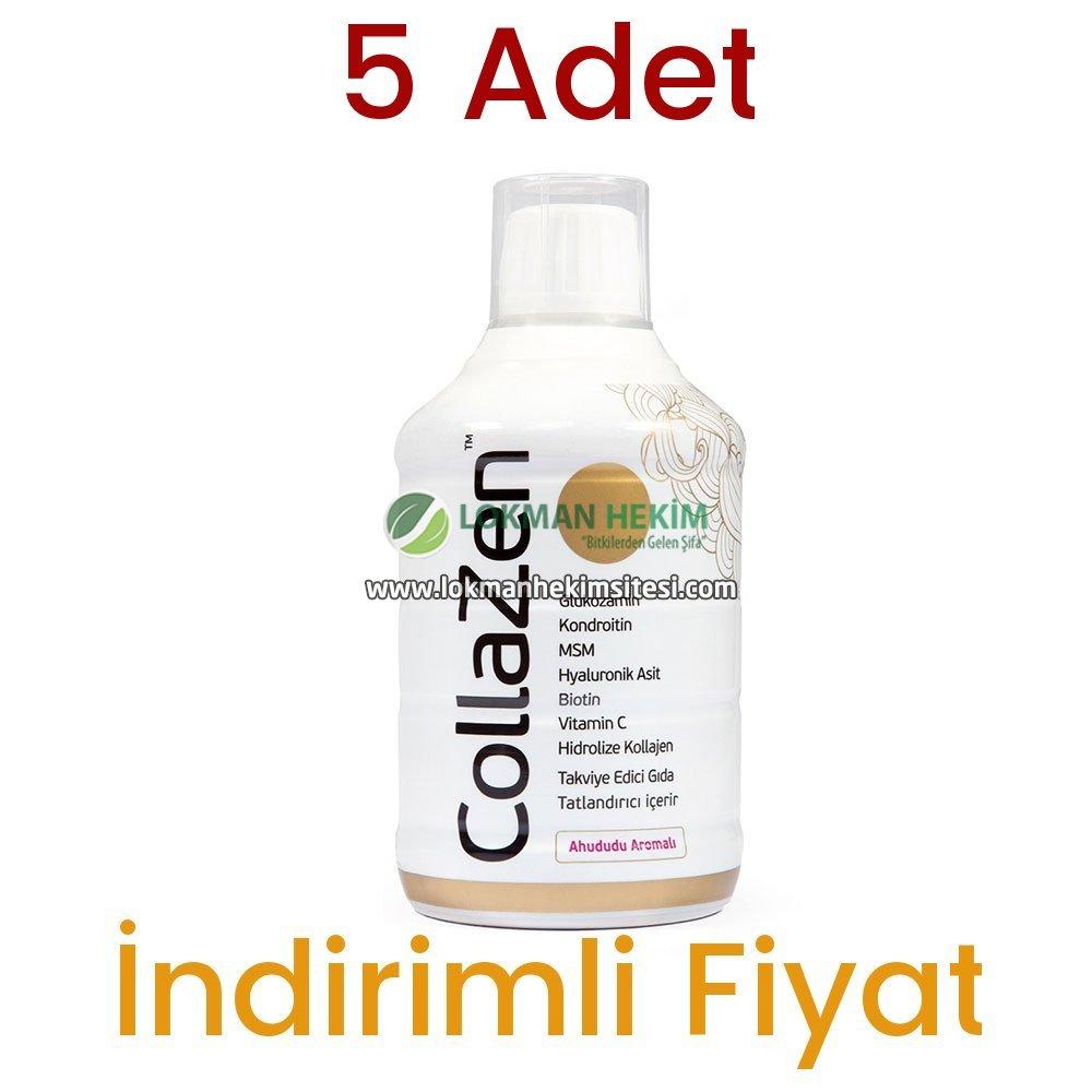 5 Adet Collazen Hidrolize Ahududulu Kollajen Sıvı Glukozamin Msm