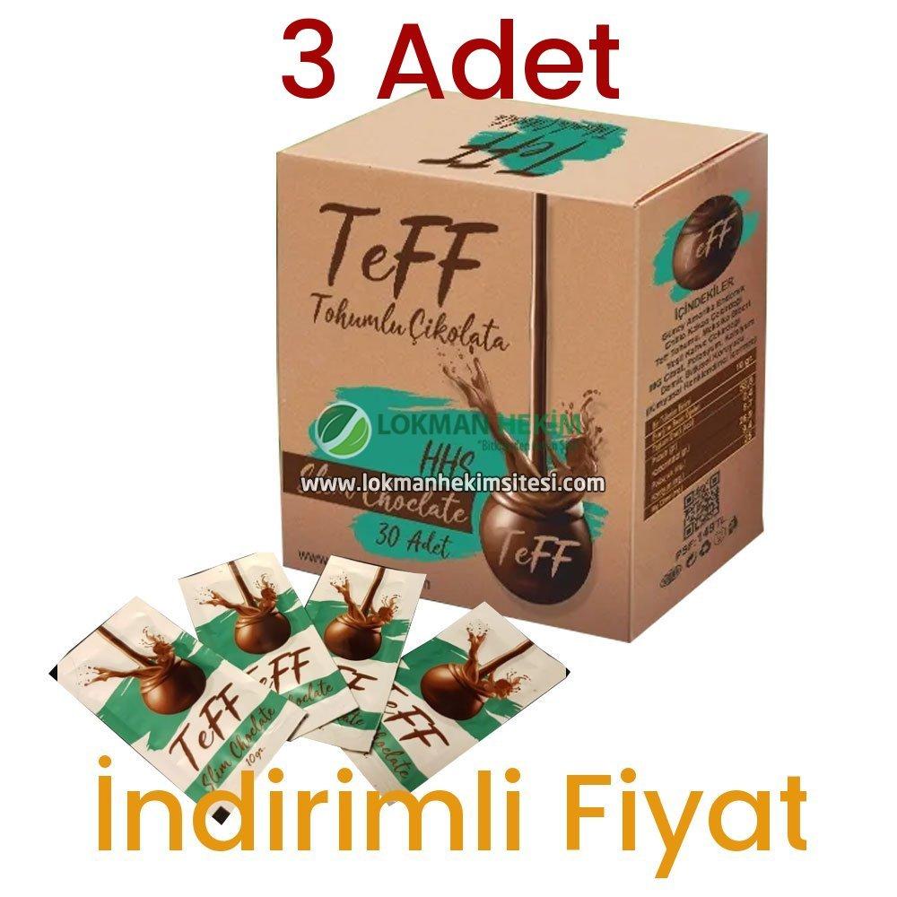 3 Adet Teff Tohumlu Çikolata 30x3 Günlük Kullanım