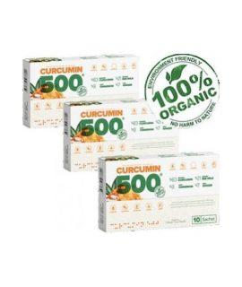 3 Adet Curcumin 500 Detox Altın Yoğurt Kürü 6 gr x 30 Şaşe