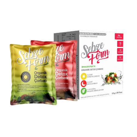 Sebze Form Çorbası – Organik Detox Çorbası x 6 KUTU