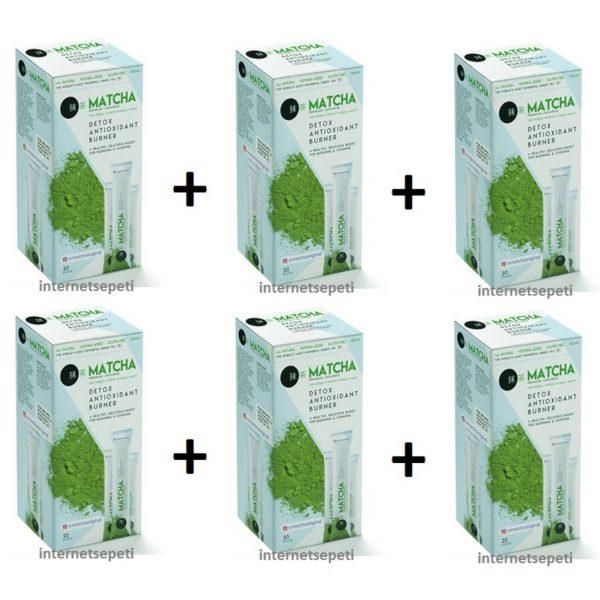 Matcha Maça Premium Japanese Detox Antıoxıdant Burner Bitki Çayı 6'lı 20 x 10 G