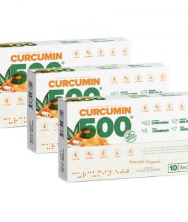 CURCUMİN 500 HERBAL FOOD 10 ŞASE x 6 GR * 3 KUTU