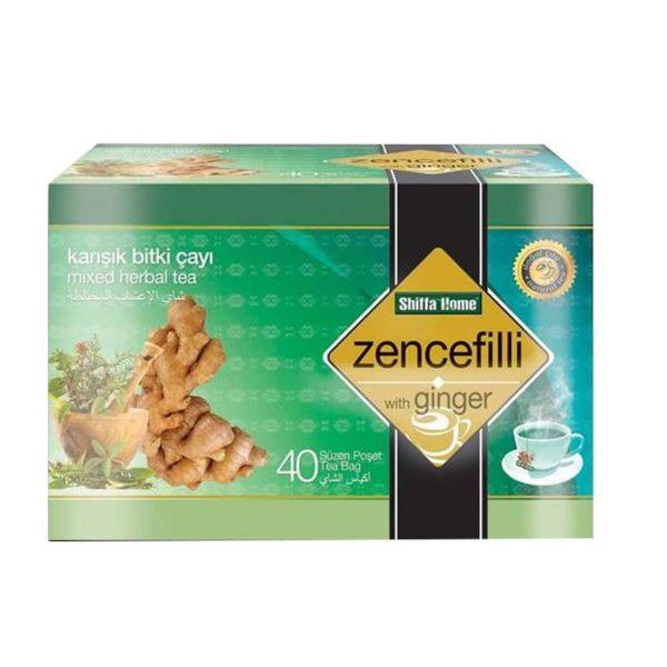 Shiffa Home Zencefilli Karışık Bitki Süzen Poşet Çay 40 x 1.5 G