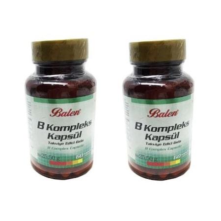 2 ADET Balen B Vitamin Kompleksi 425 mg 60 X2 Kapsül