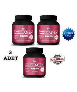 3 Adet Hud Collagen Plus 3x300 gr Toz Kolajen Powder Hidrolize Kollajen Tip 1,2,3 Kollajen Collagen