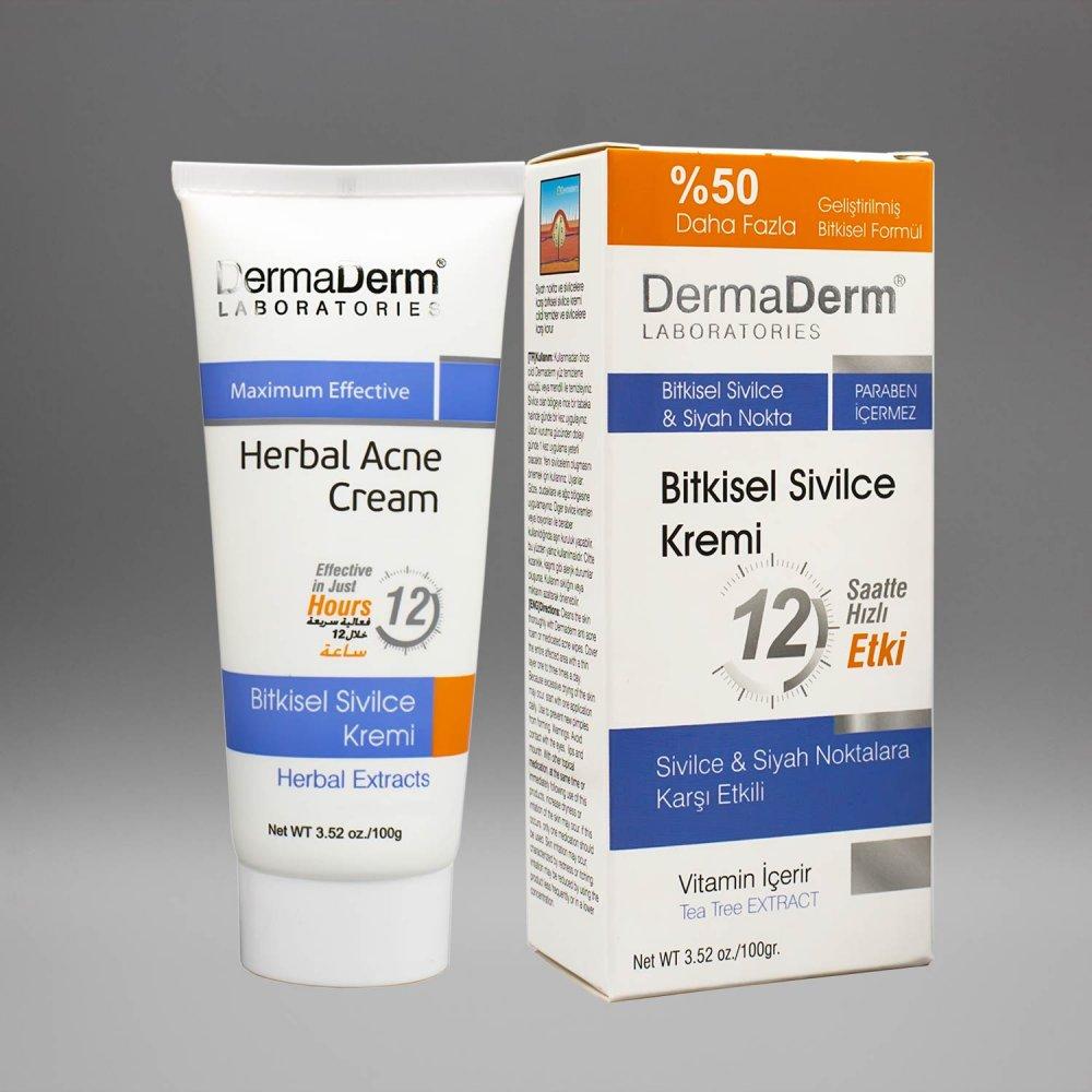 Dermaderm Sivilce Herbal Acne cream Bitkisel Krem 100 gr % 100 ORİJİNAL