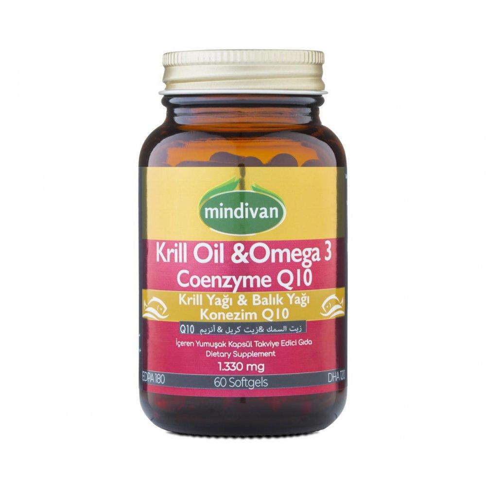 KrillOil&Omega 3 &Coenzyme Q10 500 mg, 60 kapsül