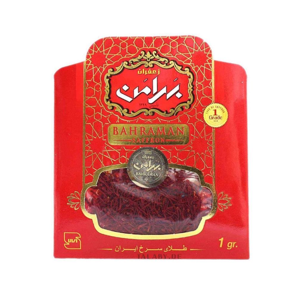Safran 1 GR Saffron saf orjinal iran safranı Bahraman  1 gram