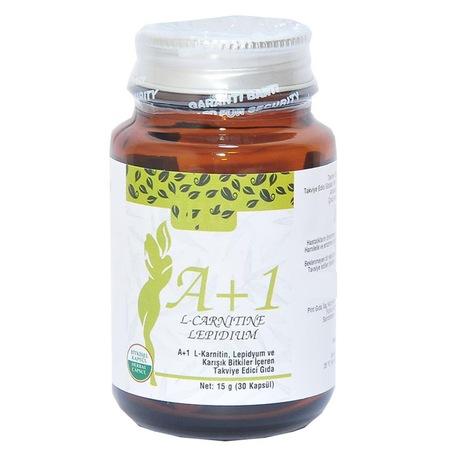 HHS A1 L-Carnitine Lepidium Bitkisel 30 Kapsül A1 L-Karnitin