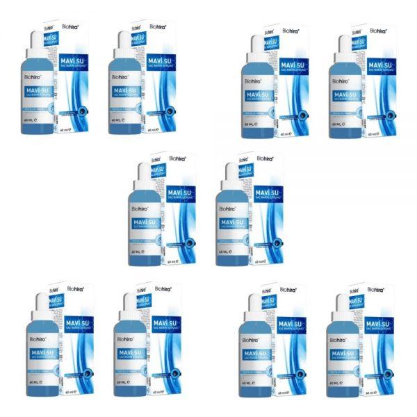 Biohira Mavi Su Saç Bakım Serumu 60 ml x 10 Adet